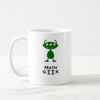 Triple Eye Math Geek green Coffee Mug