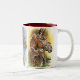 Triple Gaited Horses Two-Tone Coffee Mug