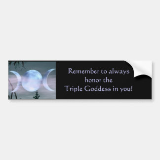Triple Goddess Bumper Sticker