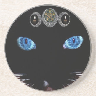 Triple Goddess Cat Coaster