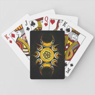 Triple Goddess Crowned - Dark Poker Deck