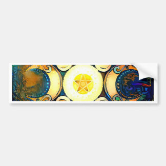 Triple Goddess Crowned - Divine Union Bumper Sticker