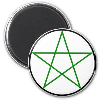 Triple-Goddess-Pentagram 2 Inch Round Magnet