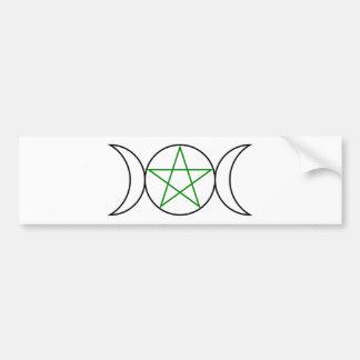 Triple-Goddess-Pentagram Bumper Sticker