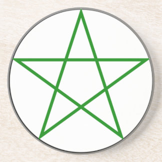 Triple-Goddess-Pentagram Coaster