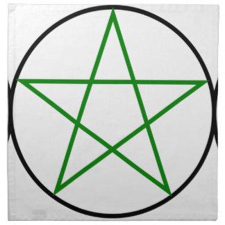 Triple-Goddess-Pentagram Napkin