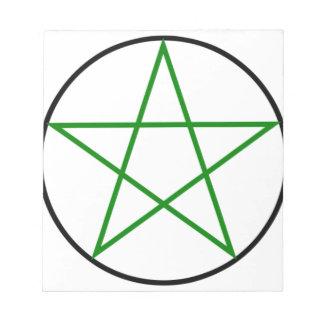 Triple-Goddess-Pentagram Notepad