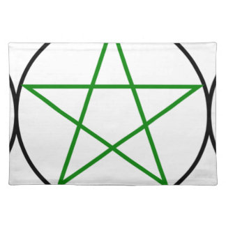 Triple-Goddess-Pentagram Placemat