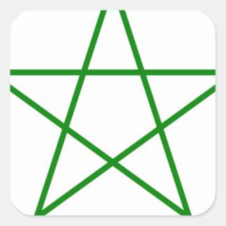 Triple-Goddess-Pentagram Square Sticker
