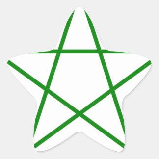 Triple-Goddess-Pentagram Star Sticker