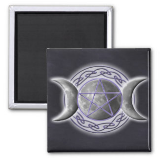 Triple Goddess Square Magnet