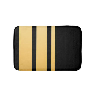Triple Gold Stripe Bath Mat