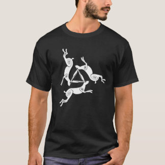 Triple Hare Triskele Mens Dark Tee