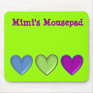 triple hearts, Mousepad