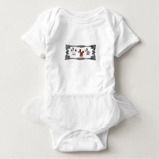triple horse frame baby bodysuit