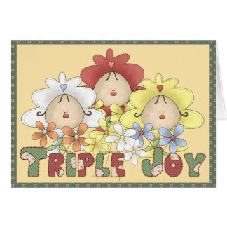 Triple Joy Triplets Card