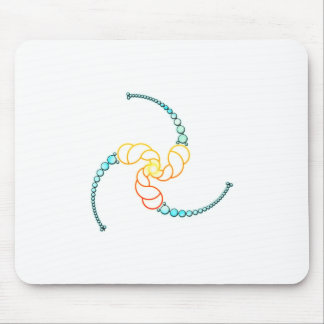 Triple Julia Set Crop-Circle Mouse Pad