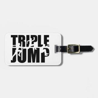 Triple jump luggage tag