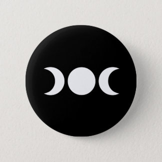 Triple Moon 2 Inch Round Button