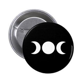 Triple Moon 2 Inch Round Button