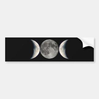 triple moon bumper sticker