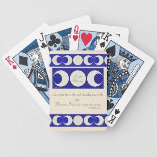 Triple Moon Goddess Pagan Blessings Ancient Bg Bicycle Playing Cards