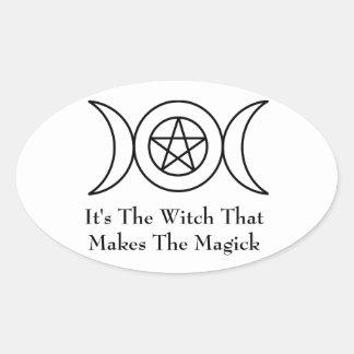 Triple Moon Goddess Sticker