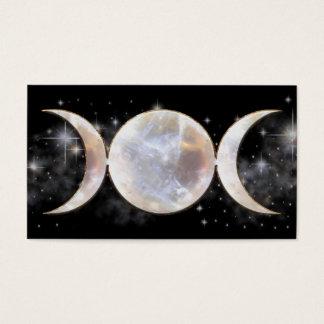 Triple Moon Moonstone Business Card
