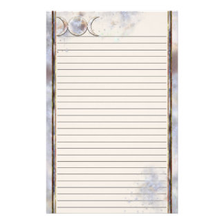 Triple Moon Moonstone Lined Stationery