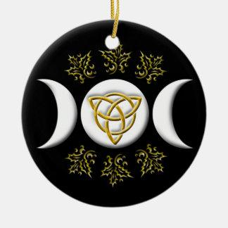 Triple Moon & Tri-Quatra #1 Ceramic Ornament