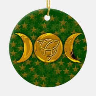 Triple Moon & Tri-Quatra #3 Ceramic Ornament