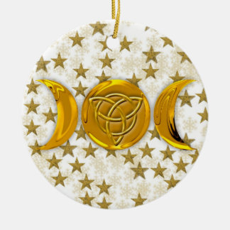Triple Moon & Tri-Quatra #4 Ceramic Ornament