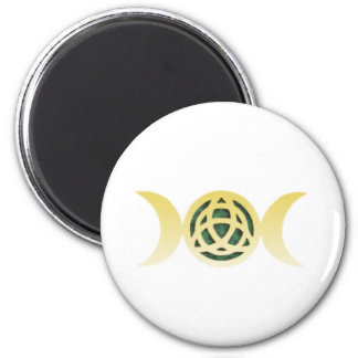 Triple Moon Triquetra 2 Inch Round Magnet