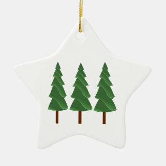 Triple Pines Ceramic Ornament