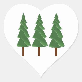 Triple Pines Heart Sticker
