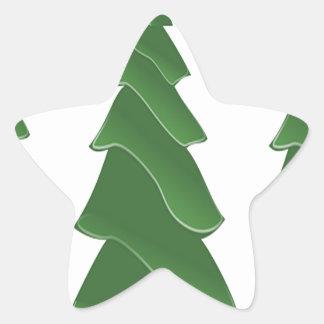 Triple Pines Star Sticker