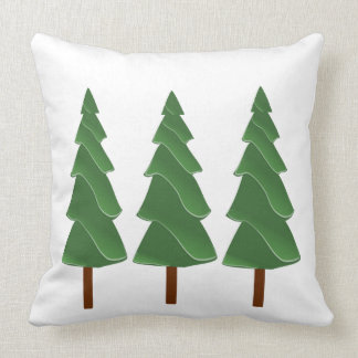 Triple Pines Throw Pillow
