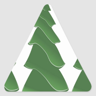 Triple Pines Triangle Sticker