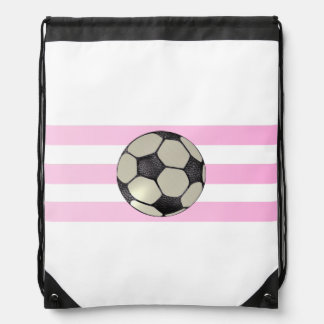 Triple Pink Strip Soccer Ball Backpack