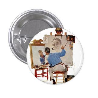 Triple Self-Portrait 1 Inch Round Button