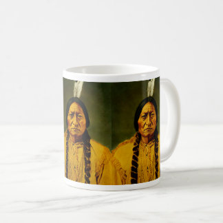 Triple Sitting Bull Native American Indian Chief Coffee Mug