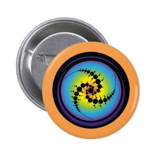Triple Spiral Crop Circle 2 Inch Round Button