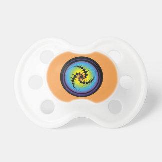 Triple Spiral Crop Circle Baby Pacifier
