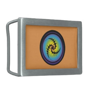 Triple Spiral Crop Circle Belt Buckle