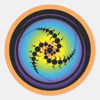 Triple Spiral Crop Circle Classic Round Sticker