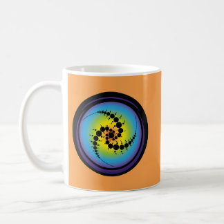 Triple Spiral Crop Circle Coffee Mug