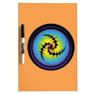 Triple Spiral Crop Circle Dry Erase Board