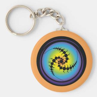 Triple Spiral Crop Circle Keychain