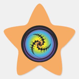 Triple Spiral Crop Circle Star Sticker