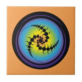 Triple Spiral Crop Circle Tile